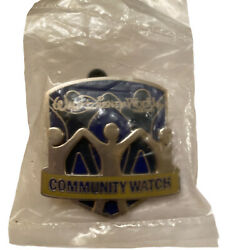 Rare Wdwcommunity Watch Security Guardpin Badge Button Cast Member Exclusive