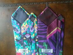 Gianni Versace Men's Lot Of 3 All Silk Neck Ties, 2 With Multiple Medusa Heads