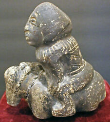 Rare Antique African Equestrian Stone Carving