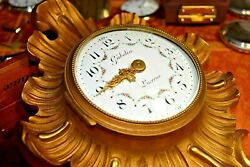 Very Rare Gubelin Lucerne Wall Clock 1920and039s