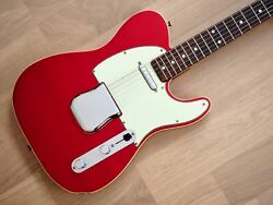 1988 Fender Telecaster Custom And03962 Vintage Reissue Tl62b Candy Apple Red W/ Case