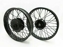 New Wheel Rim Set Powder Coated 19 And 18 Fit For Royal Enfield Classic C5 Uce