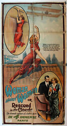 Woman Against Woman Or Rescued In The Clouds / / 1914 / / Movie Poster/26
