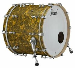 Pearl Music City Custom Reference Pure 18x16 Bass Drum W/ Mount Golden Yellow Ab