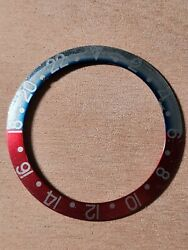 Rolex Insert Gmt 1675 Faded Pepsi Red Back Fat Font Vintage
