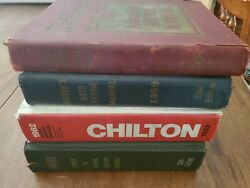 Lot Of 4 Vintage Auto Repair Manuals Chilton's And Motor Truck And Diesel