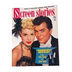 Screen Stories Magazine Houdini With Tony Curtis Janet Leigh July 1953