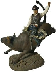 Bull Rider Rodeo Cowboy Figurine Statue 10.5 Collectible