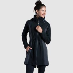 Kuhl Womens Jetstream Trench Jacket - Raven - Small - New With Tags