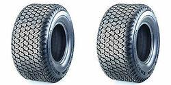 Two-16x6.50-8 16x650-8 Kenda K500 Super Turf Mower Tires Tires 4 Ply Rated