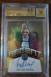2018-19 Panini Kevin Knox Gold Auto Rc /10 Bgs 9.5 Gem Mint Chronicles Ascent