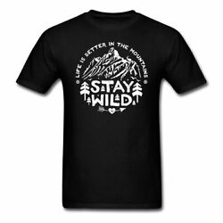 Spreadshirt Climbing Camping Life Is Better In The Mountains Menand039s T-shirt