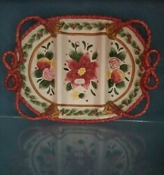 Fitz And Floyd Father Christmas Section Server Platter 18 New