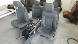 2011-2014 Ford F150 Front/rear Seat Set, Bucket Captain Chair W/bag Electric