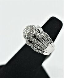 Gorgeous New With Tags Women's Diamond Engagement Ring Stackable Set, Size 7