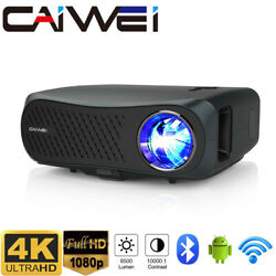 Smart Native 1080p Wifi Projector 4k Video Beamer Android 6.0 Blue Tooth Hdmi Us