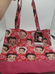 Betty Boop Purse New Tote Black Red Lips New Beach Bag Gym Bag Mini Wallet New
