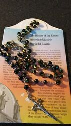 Vintage Galleria Savelli Vatican Rosary Beads With Original Card