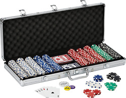 Fat Cat By Gld Products 11.5 Gram Texas Hold 'em Claytec Poker Chip Set With Alu