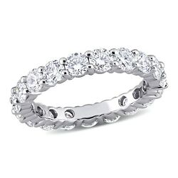 Forever Un Moissanite 14k Or Blanc Alliance Charles And Colvard 3.50ctw