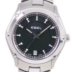Ebel A281351 Classic Sports Watches Silver Stainless Steel Quartz Women Bl...