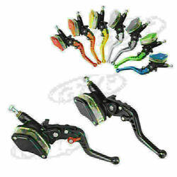 7/8 Pair Cylinder Reservoir Hydraulic Brake Clutch Levers Universal For Moto
