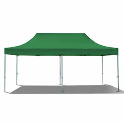 Commercial Pop Up Canopy Tent 10x20 Instant Gazebo Green 5 Height Positions 50mm