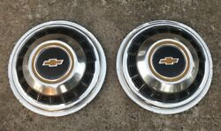 2 Two User Chevy Hubcaps 16.5 Camper Rv Motorhome Vintage Dually Gm 70's 80's