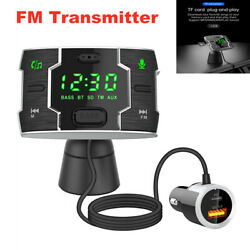 Car Suv Bluetooth Handsfree Fm Transmitter Wireless Mp3 Player Usb Fast Charger