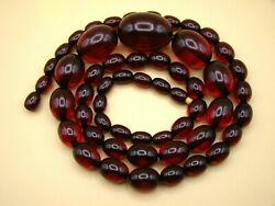 Old Real Antique Rare German Bakelite Amber Necklace Rosary Prayer Beads 65 Gr.