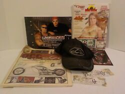 Orange County American Choppers Cast Signed Collectible Hat Brochures Tickets