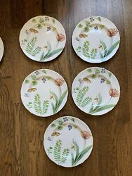 Williams Sonoma By Spode England English Floral 9 Plates 2006 2