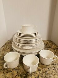 Mikasa China English Countrywside White Dp900 Pattern 20-piece Set Service For 4