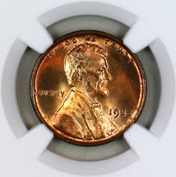 1925-p Ms65 Rd Ngc Lincoln Wheat Penny Registry Quality Collection