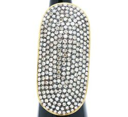 Victorian Ring Diamond Ring 925 Sterling Silver And Gold Ring Birthstone Ring