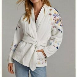 Anthropologie Quilted Patchwork Jacket Xs Petite