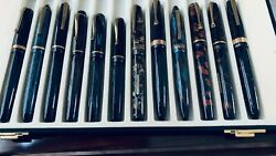 Old Chap 12 Fountain Pen Store Set 18kt Gold Nibs Vintage Stylo Chap French Made