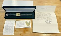Franklin Mint Eagle Watch By Gilroy Roberts 1986 Ltd With Original Box And Coa
