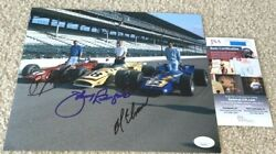 Aj Foyt Al Unser Johnny Rutherford Signed 8x10 Photo Indy Indianapolis 500 Jsa