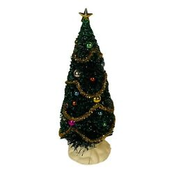 Lemax Village Decorated Bottle Brush Christmas Tree 9 Inch