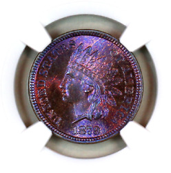 1879 Ms66 Rb Ngc Indian Head Penny Premium Quality Superb Eye-appeal