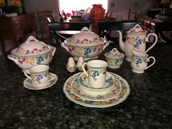 Villeroy Boch Melina 12 Place Setting, Coffee Mugs And Serving Pieces