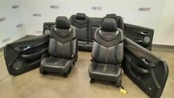 2014 Chevy Ss Oem Seat Set Complete Interior Black Leather Suede Trim Panels