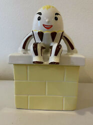 Vintage Abingdon Pottery Usa Ceramic Humpty Dumpty Cookie Jar 663 From The 1940s