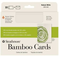 Strathmore Bamboo Blank Greeting Cards And Envelopes 10-pack 5x7 Natural Finish