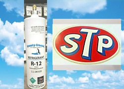 Refrigerant 12, R12, R-12, New, 28 Oz. Includes On/off Valve, Stp Tool Box Decal