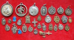 Lot Of 31 Pcs Different Saints Antique Religious Christianity Beautiful Medals