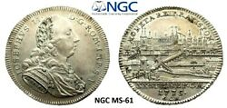 🔥 Ngc Regensburg 1775 Ms-61 1/2 Thaler Silver City View Coin Germany R Top Pop