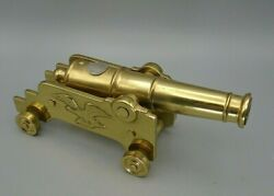 Vintage Heavy Brass Bicentennial Selection Cannon By Virginia Metalcrafters 76-4