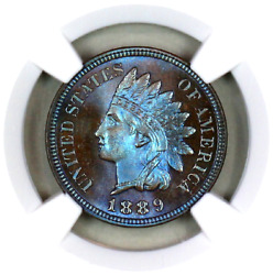 1889 Pf67 Bn Ngc Indian Head Penny Proof Example Superb Eye-appeal